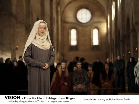 Hannah Herzsprung as Richardis von Stade in VISION. A film by Margarethe von Trotta. A Zeitgeist Films release.